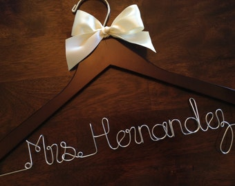 HUGE SALE Personalized Hangers/ Bride/ Wedding Dress Hanger/Bridal Gift/ bridal party GIFTS/ wire hanger/ wedding hanger