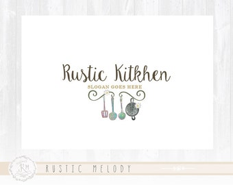 Kitchen Logo Design Rustic Bakery Sweets Boutique Watermark