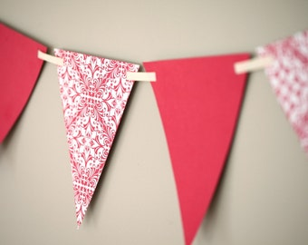 Instant Download: Valentine Printable Flag Banner for Party or Photo Prop by daintzy