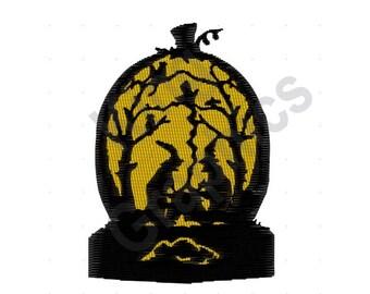 Halloween Pumpkin Witches - Machine Embroidery Design