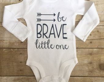 Be brave little one, baby boys' clothes, baby clothing, newborn boy clothing, newborn outfit, newborn take home outfit, baby shower gift
