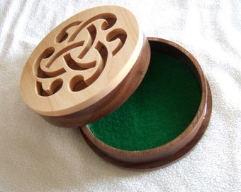 Items similar to Celtic Knot Wood Box Jewelry Box Memory Box Gift