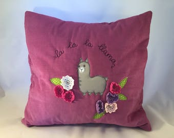 Lama embroidered pillowcase cushion cushions decor pillow