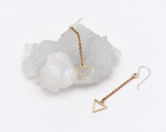 The Triangle Drop Earrings