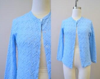 1960s Helen Sue Pale Blue Cardigan