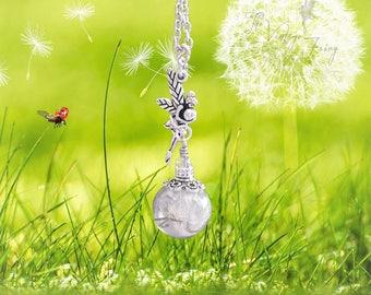 Necklace, necklace, Cloche, Amber, Wish Fairy, Makeawish, Wishfairy, Dandelion, Wish