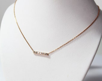 Necklace rose gold 750 and diamonds