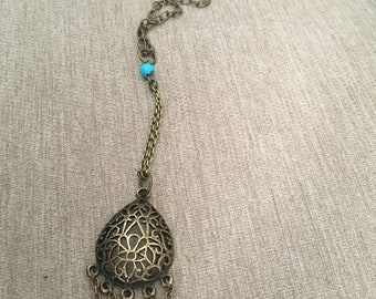 """Chain & Charm """"Y"""" Necklace"""