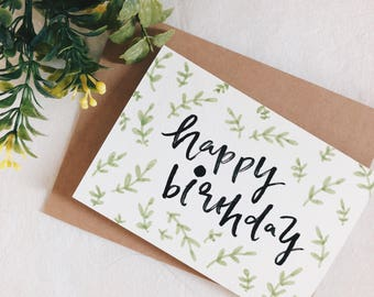 Happy Birthday card, birthday Cards, birthday, Gift Idea, birthday Gift Idea,birthday lettering,Lettering Card,Greeting Cards,Lettering