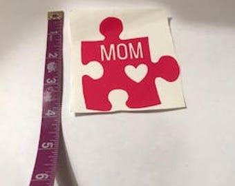 Autism Decal, puzzle decal,autism suppourt,autistic,