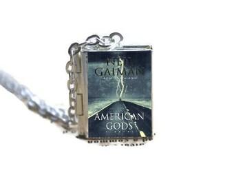 American Gods Book Locket Necklace