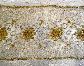 1920's Gold Floral Panel