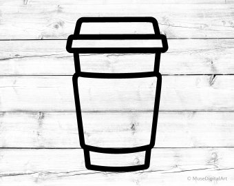 Coffee Cup Svg Coffee to Go Svg Coffee Cup Silhouette Svg Coffee Svg Coffee Cup Png Latte Svg for Cricut Svg for Silhouette Take Away Svg