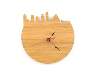 Wall Clock - Austin, Texas Skyline