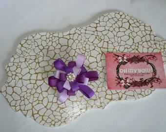 Little violet flower hair clip