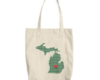 Cotton Heart MSU Tote Bag