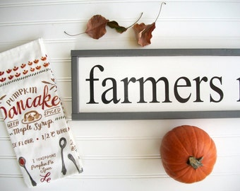 Farmers Market Sign . Farmhouse . Fall Decor. Farmhouse Kitchen . Fixer Upper . 30 x 7 . Modern Farmhouse . Kitchen Sign. Farmers Market