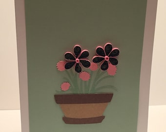 Quilled Flower Pot Card