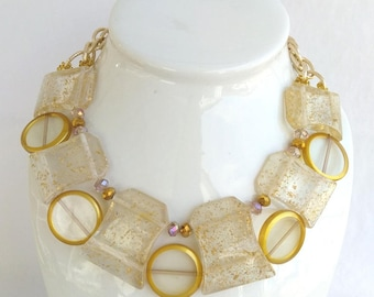 clearly best gold pretty clear lucite the necklace products
