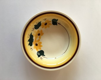 Brown Eyed Susan Sauce Dessert Bowl 5 1/2 Inch 1940's 1950's Dinnerware Replacement Vernon Kilns Montecito