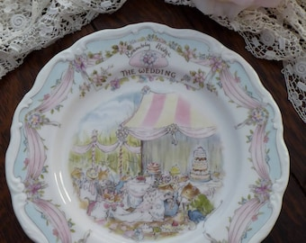 Royal Doulton Brambly Hedge The Wedding PLATE 1987, Brambly Hedge The Wedding PLATE, Jill Barklem Brambly Hedge Gift Collection