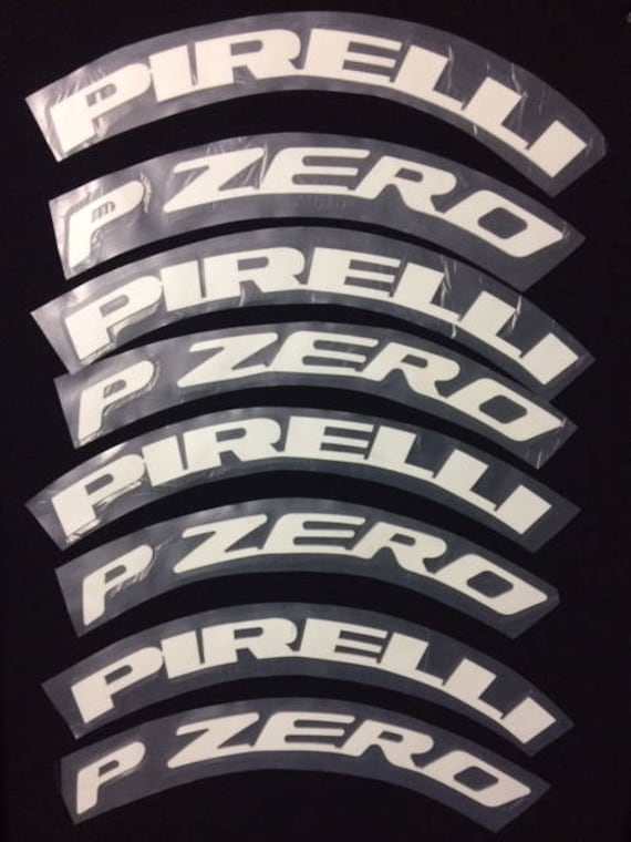 Hankook Tires White Letters >> Permanent Tire Letters Sticker 1 Pirelli P ZERO White