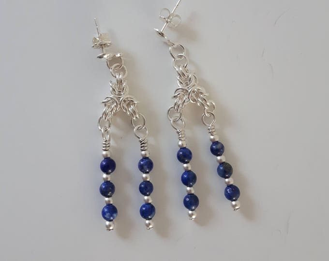 Byzantine Blueberry Earrings (Post and Nugget Style)