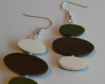 Green ovals earrings
