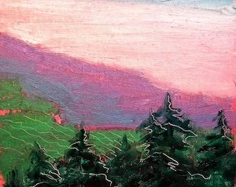 Valley Morning 7 original landscape oil painting