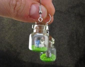 Tiny My Neighbor Totoro Bottle Earrings