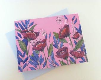 Pretty Pink Poppy - Box of 8 Blank Cards