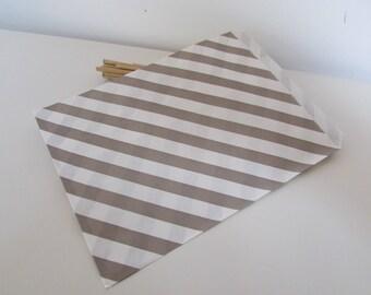 25 bag kraft paper 16 x 13 cm - polka dots, Zebra or line - ref 20