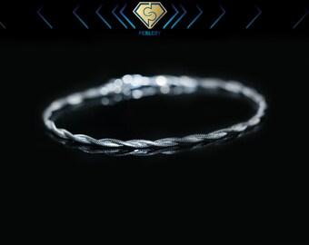 Silver bracelet. Sterling silver bracelet. Snake bracelet. Twisted bracelet. Twisted silver bracelet. Twisted snake bracelet