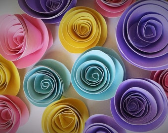 Easter Decorations, Colorful Paper Flowers, Spring Decor