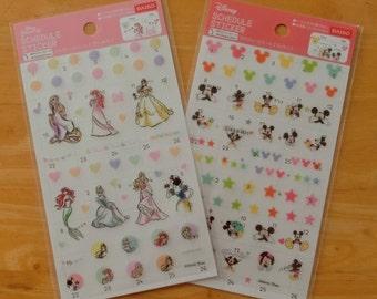 Disney schedule stickers (Princess / Mickey)
