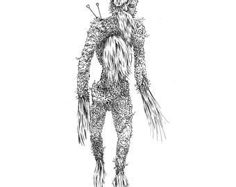 Fear Gorta: A4 giclee print