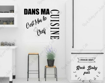 Applied decals in my kitchen is me chef, kitchen decoration, decal for kitchen