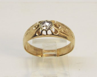 Antique Rose Diamond Ring 14Kt Gold