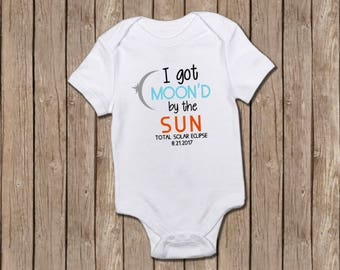 I Got Moon'd by the Sun/total eclipse/baby girl/baby boy/baby shower/eclipse/onesie/baby onesie