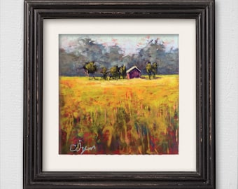 "Original Pastel Painting ""Lonely House"""