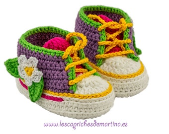 "Booties of crochet made by hand ""Margarita"""