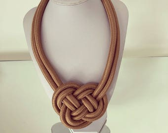 Small Brown Rope Necklace