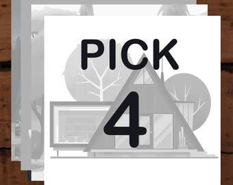 Pick 4 Prints