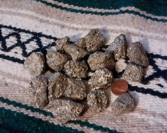 Iron pyrite with quartz inclusions 1 lb
