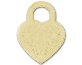 50 Gold Heart Padlock Wedding Envelope Seal Stickers, Shiny Metallic Gold Heart Padlock Wedding Invitation Seals, Gold Foil Heart Stickers
