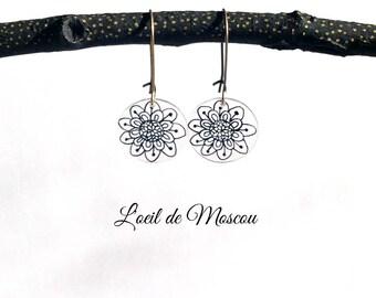 rosasse Stud Earrings, black