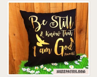 Bible Verse Scripture Cushion Cover Psalm 46:10