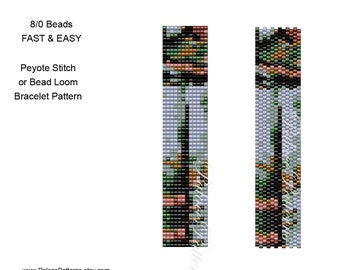 Beadweaving Bracelet 103 for 8/0 Seed Beads, Peyote Stitch or Bead Loom - Fast and Easy - Miyuki Seed Bead Bracelet Pattern 103 for 8 Beads