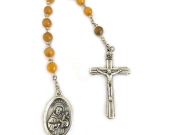 Saint Francis of Assisi One Decade Rosary Patron Saint of Animals
