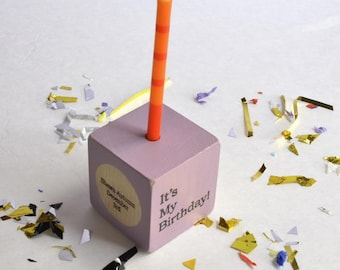 Personalized, Customized Birthday Block Candle, Kids Birthday Decor, Kids Party Decor